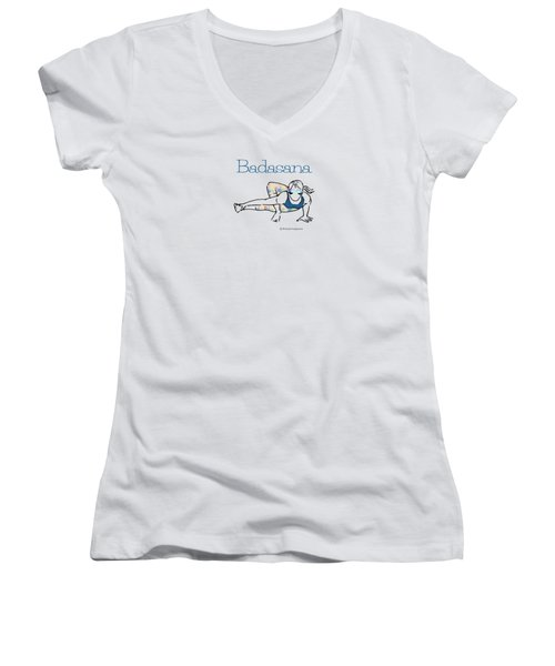Badasana Women's V-Neck T-Shirt