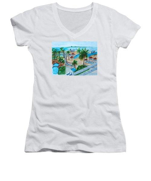 Bahamas Balcony Women's V-Neck T-Shirt