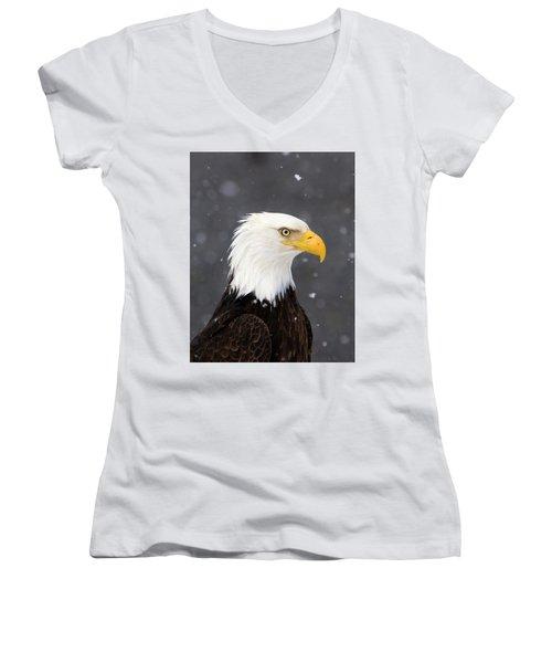 Bald Eagle Intensity Women's V-Neck