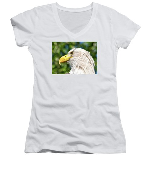 Bald Eagle Women's V-Neck