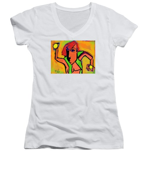 Ball Man Women's V-Neck