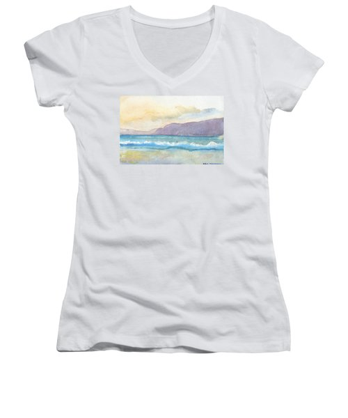 Ballenskelligs Beach Women's V-Neck T-Shirt