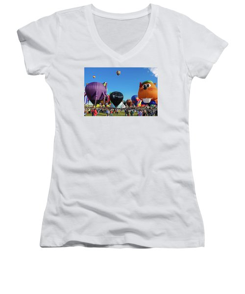 Balloon Fiesta Albuquerque I Women's V-Neck