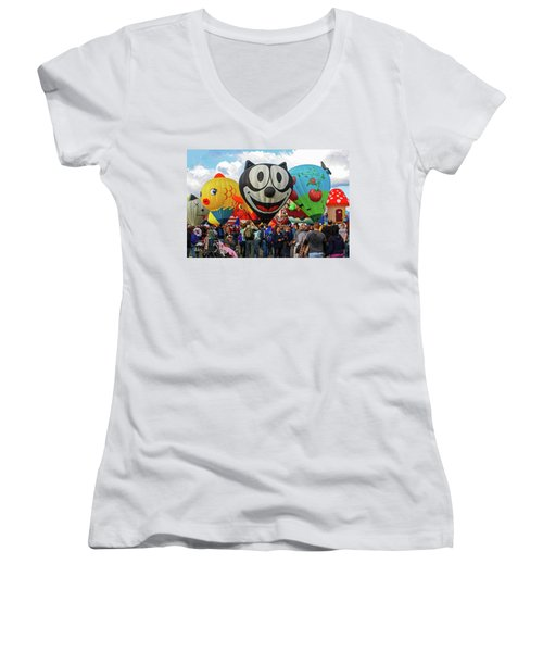 Balloon Fiesta Albuquerque II Women's V-Neck