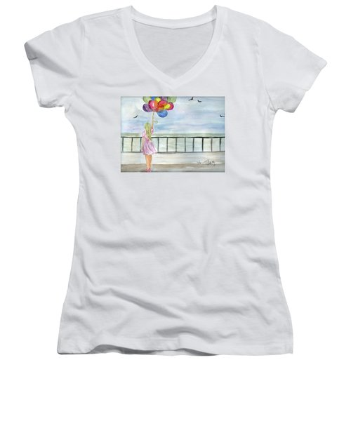 Baloons Women's V-Neck T-Shirt