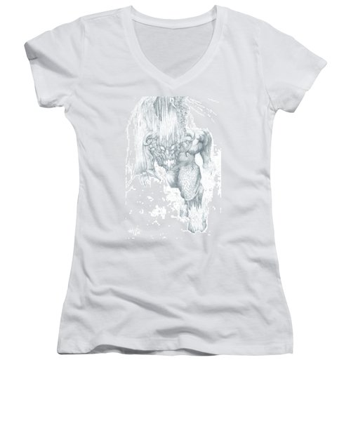 Balrog Sketch Women's V-Neck (Athletic Fit)