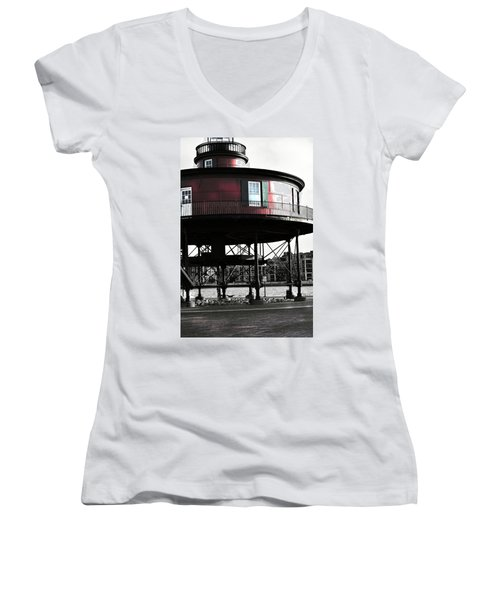 Baltimore Lighthouse Women's V-Neck (Athletic Fit)
