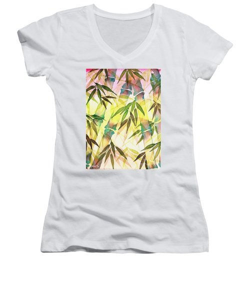 Bamboo Sunrise Women's V-Neck (Athletic Fit)