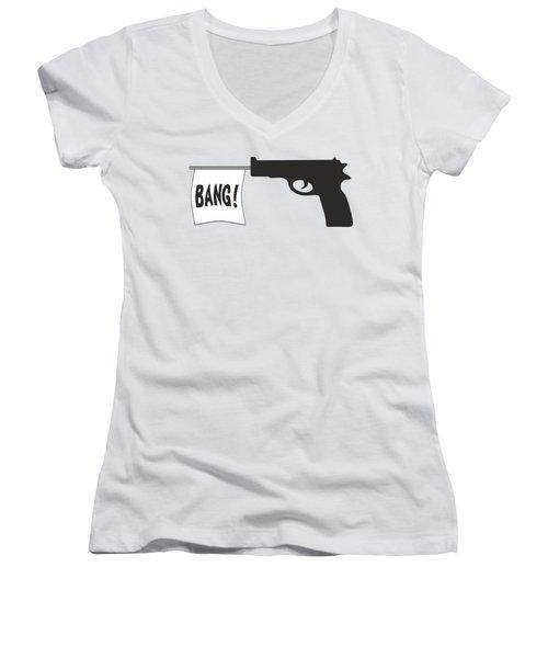 Bang Women's V-Neck T-Shirt (Junior Cut) by Ericamaxine Price