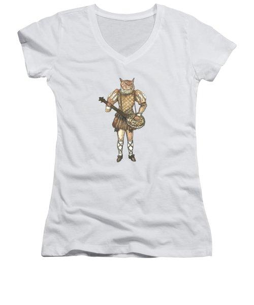 Banjo Cat Women's V-Neck (Athletic Fit)