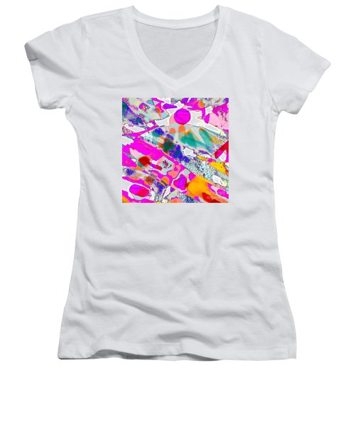 Banner In The Breeze Women's V-Neck T-Shirt