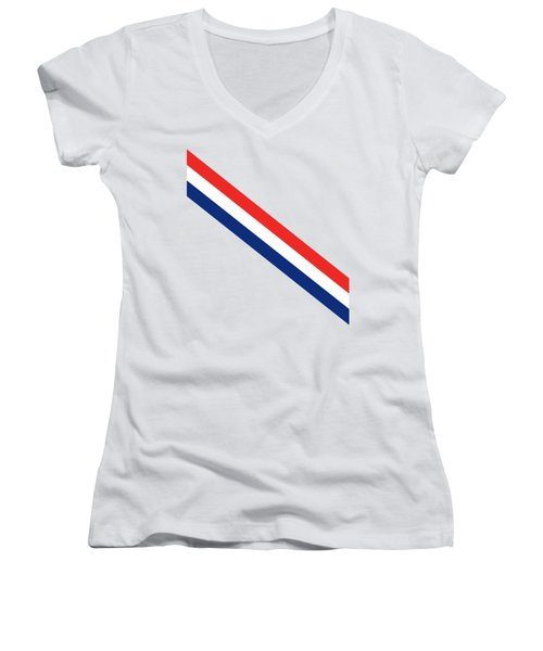 Barber Stripes Women's V-Neck T-Shirt