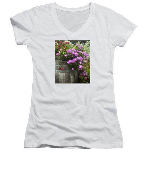 Barrel Of Flowers Women's V-Neck (Athletic Fit)