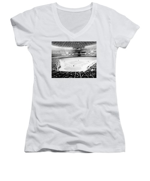 Baseball: Astrodome, 1965 Women's V-Neck