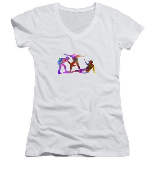 Baseball Players 03 Women's V-Neck T-Shirt