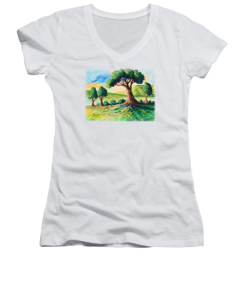 Basking In The Sun Women's V-Neck T-Shirt (Junior Cut) by Anthony Mwangi