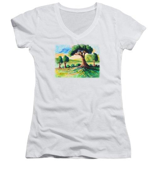 Basking In The Sun Women's V-Neck T-Shirt