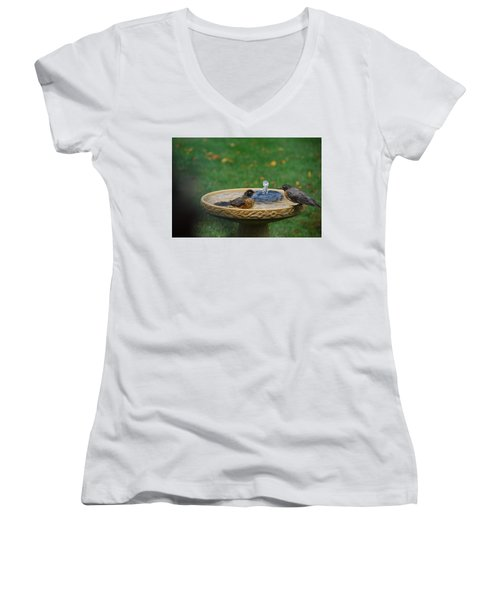 Bathtime In The Front Yard Women's V-Neck (Athletic Fit)