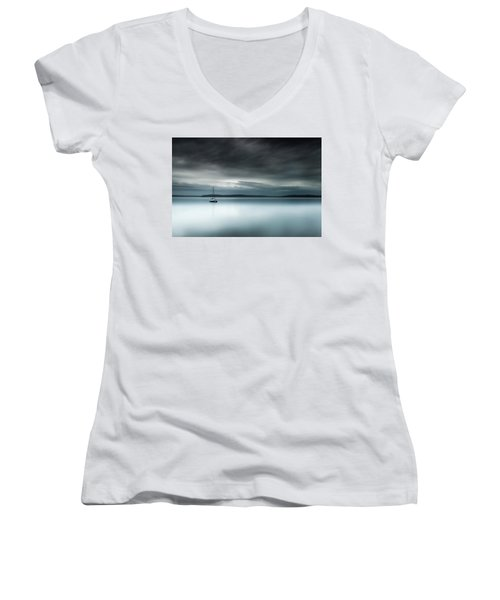 Batten Down The Hatches Women's V-Neck T-Shirt