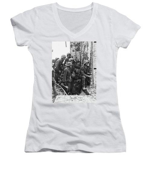 Battle Of Stalingrad  Nazi Infantry Street Fighting 1942 Women's V-Neck