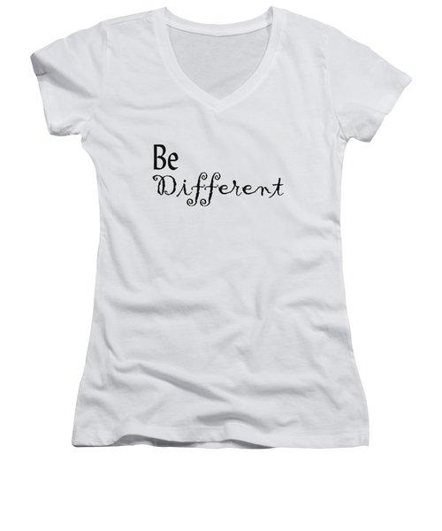 Be Different Women's V-Neck