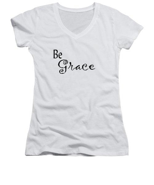 Be Grace Women's V-Neck T-Shirt