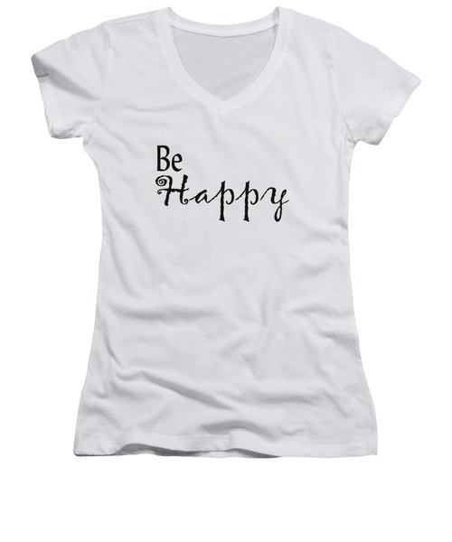 Be Happy Women's V-Neck (Athletic Fit)