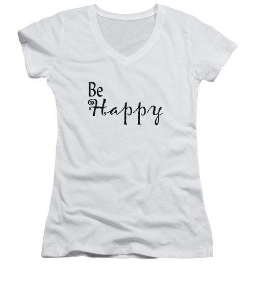 Be Happy Women's V-Neck