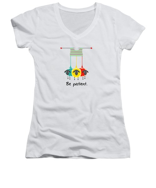 Be Patient Women's V-Neck (Athletic Fit)