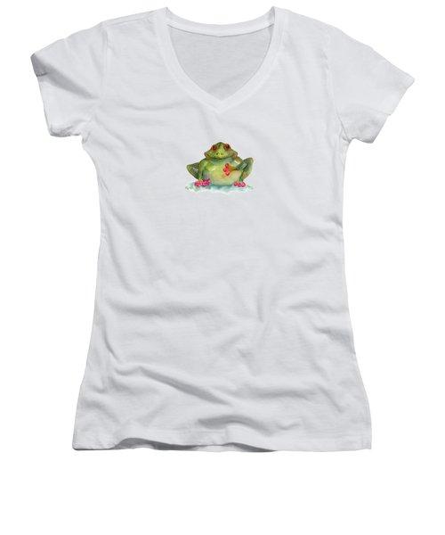 Be Still My Heart Women's V-Neck T-Shirt (Junior Cut) by Amy Kirkpatrick