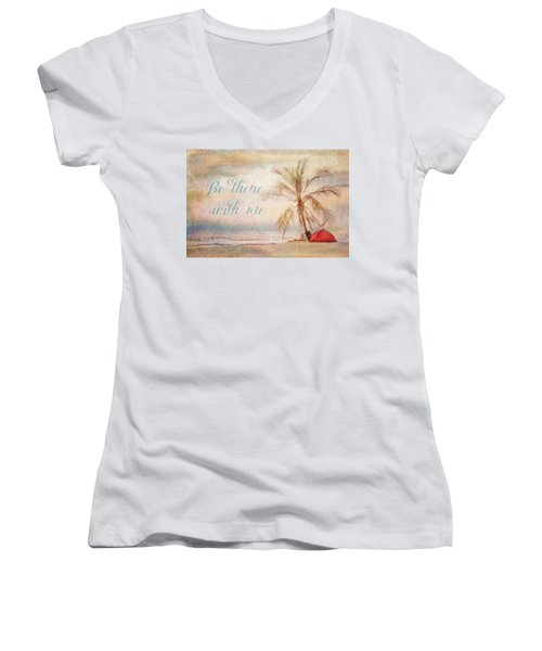 Be There With Me Women's V-Neck