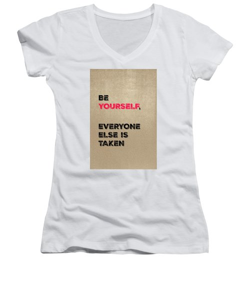 Be Yourself #3 Women's V-Neck