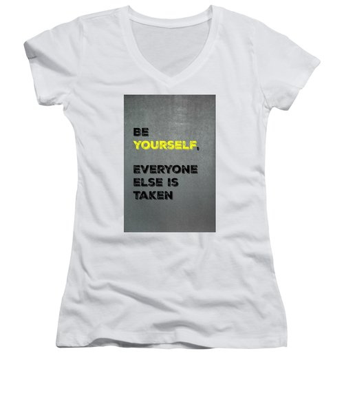Be Yourself #4 Women's V-Neck