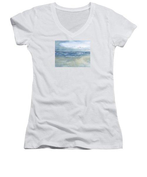 Beach Blue Women's V-Neck T-Shirt