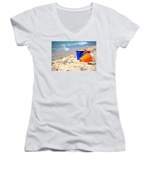 Beach Buckets Women's V-Neck