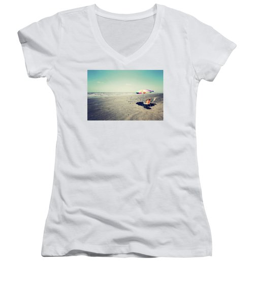 Beach Day Women's V-Neck