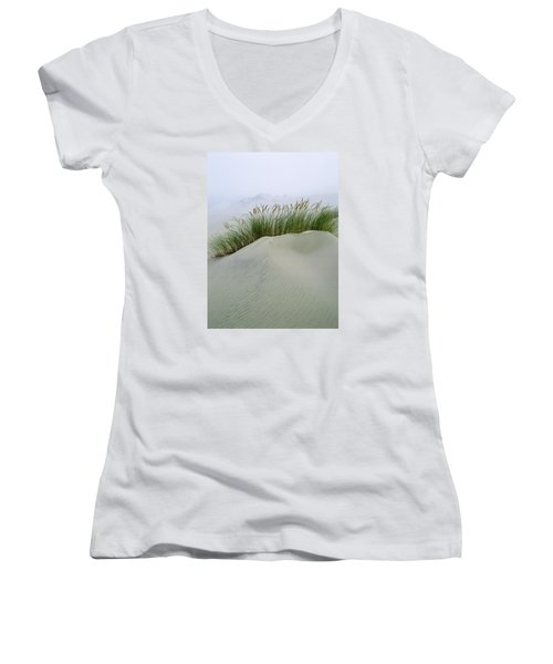 Beach Grass And Dunes Women's V-Neck (Athletic Fit)
