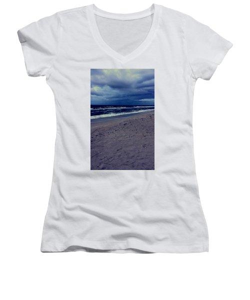 Beach Women's V-Neck (Athletic Fit)