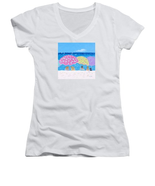 Beach Painting - Lazy Summer Days Women's V-Neck