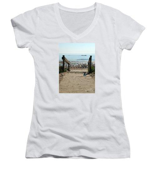 Beach Path Women's V-Neck T-Shirt