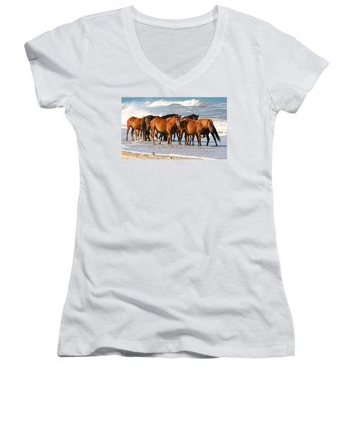 Beach Ponies Women's V-Neck