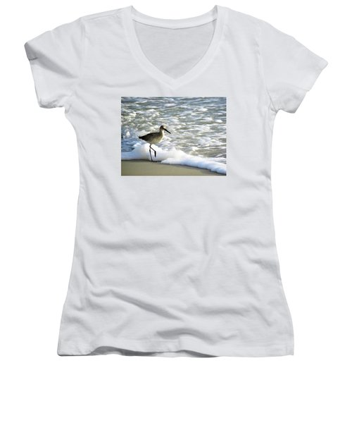 Beach Sandpiper Women's V-Neck T-Shirt