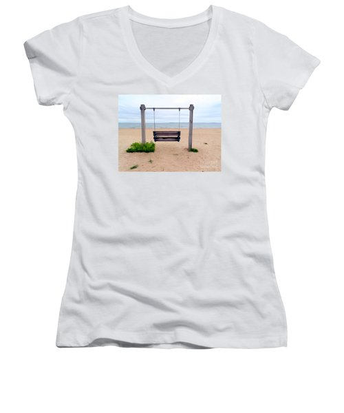 Beach Swing Women's V-Neck T-Shirt