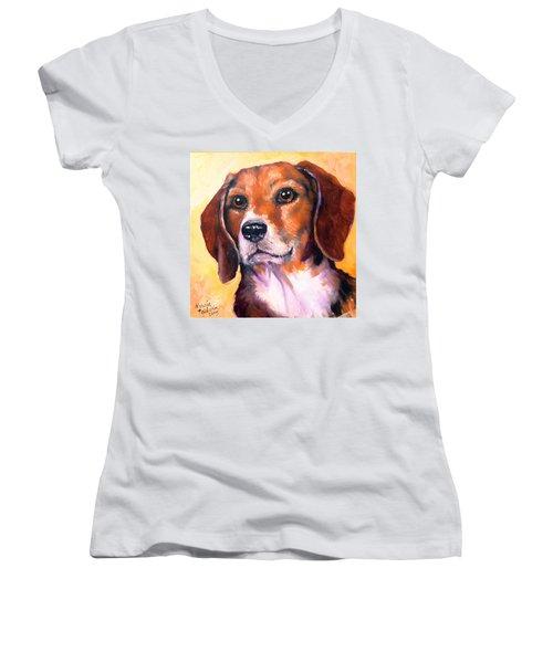 Beagle Billy Women's V-Neck