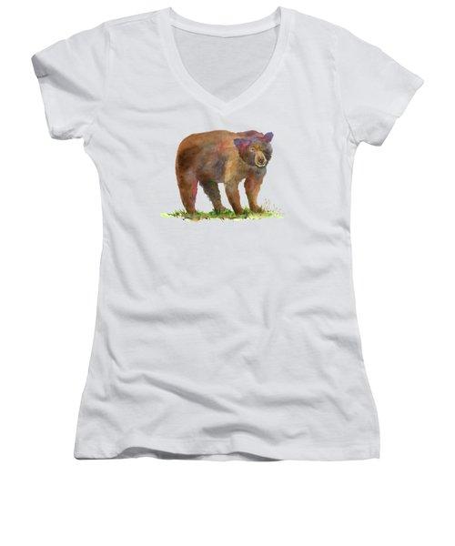 Bear In Mind Women's V-Neck