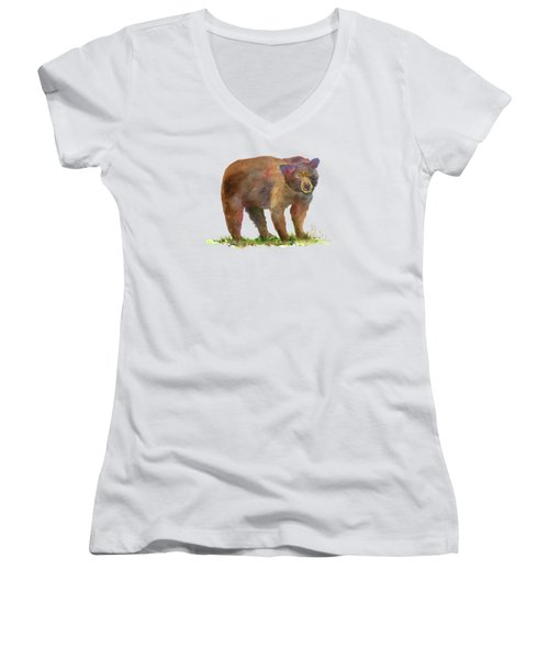 Bear Women's V-Neck T-Shirt