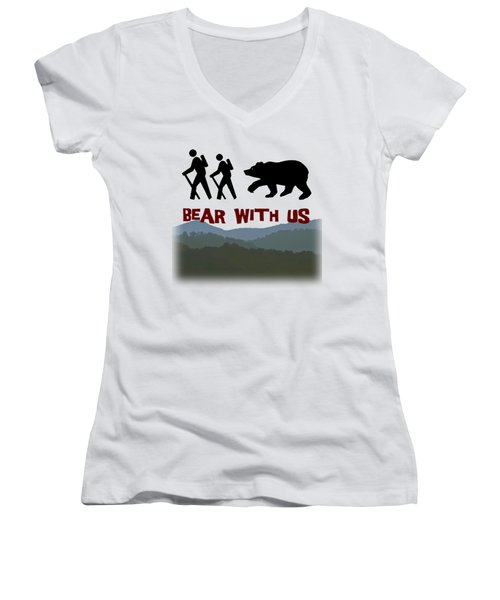 Bear With Us Women's V-Neck