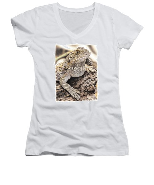 Bearded Dragon Women's V-Neck