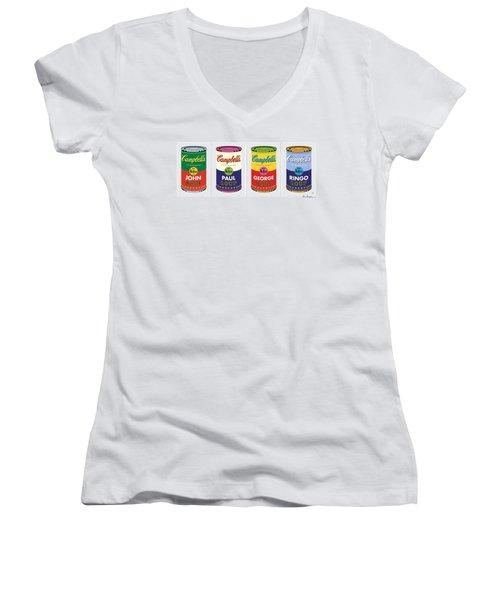 Beatle Soup Cans Women's V-Neck