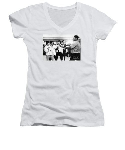 Beatles And Clay, 1964 Women's V-Neck T-Shirt